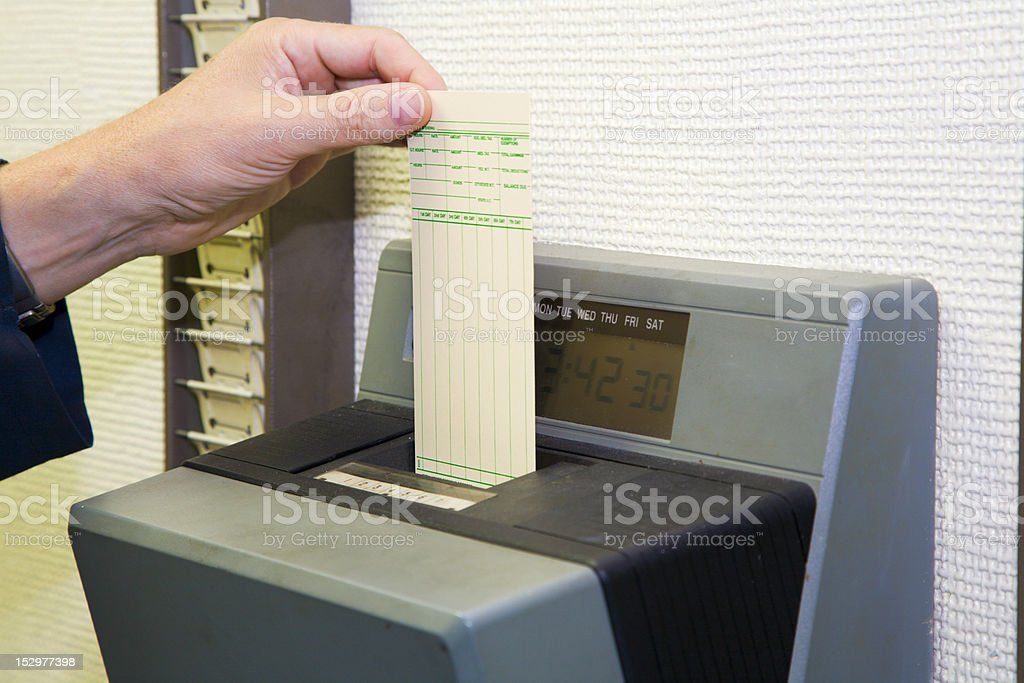 Time card stock photo
