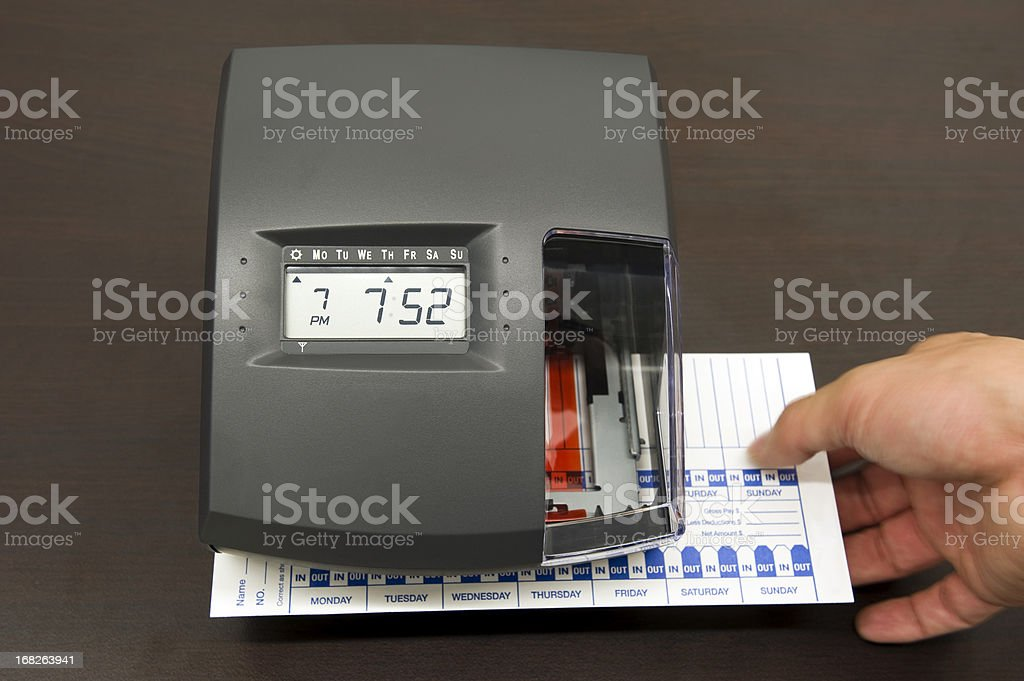 Time clock royalty-free stock photo
