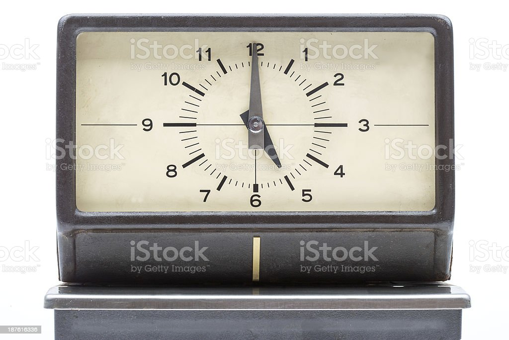 Time clock stock photo