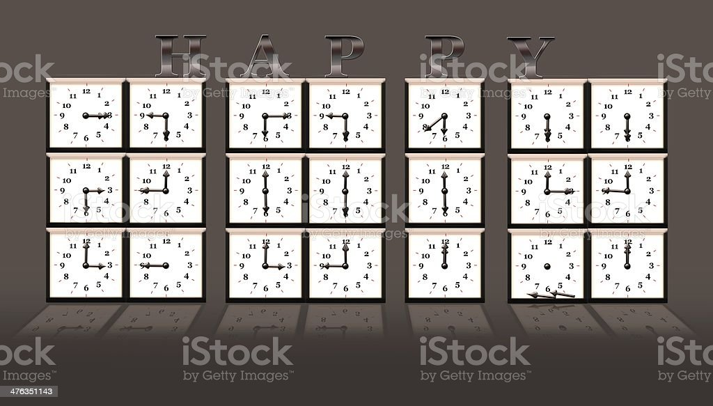 2014 time clock royalty-free stock photo