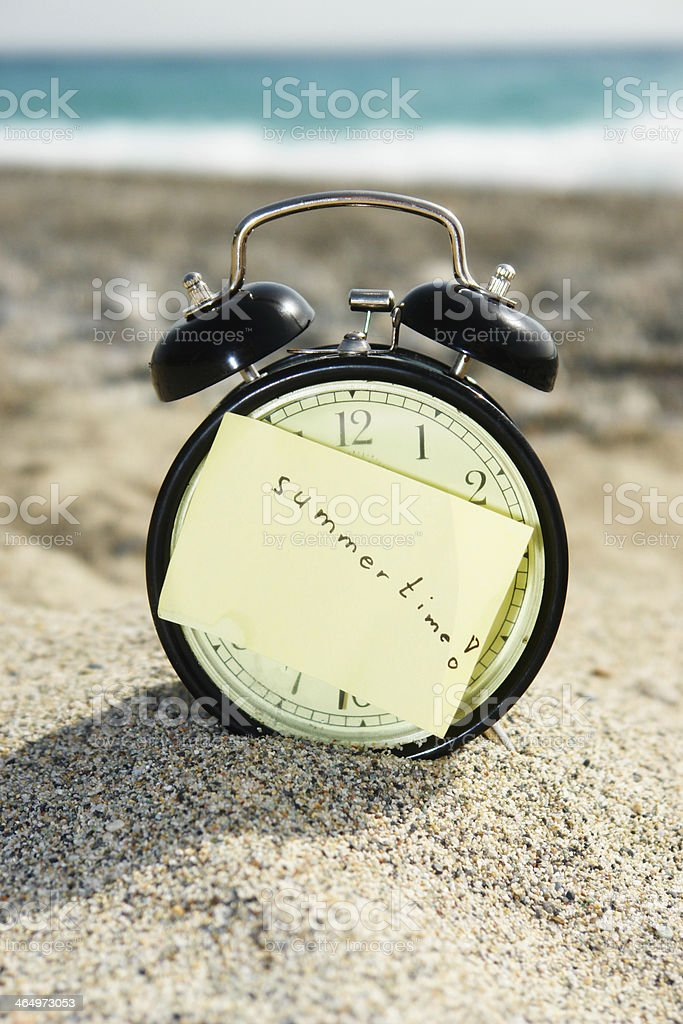 Time clock summertime dst royalty-free stock photo