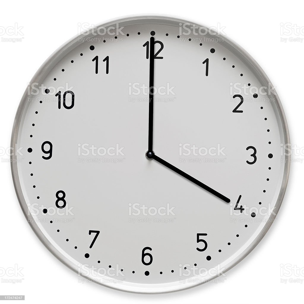 Time concept- 4 o clock royalty-free stock photo