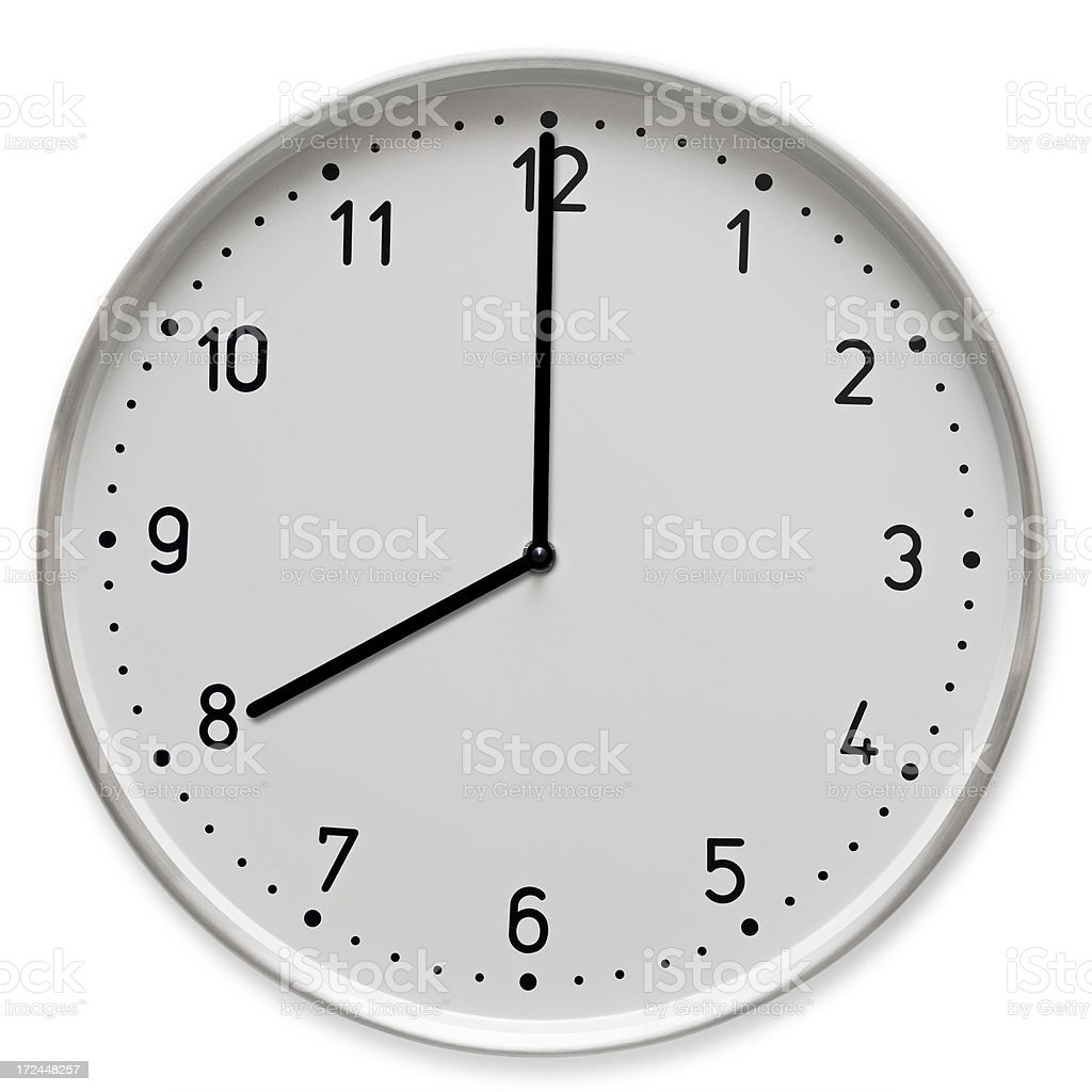 Time concept- 8 o clock royalty-free stock photo