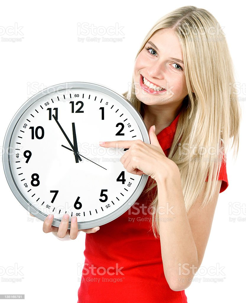 time concept. five to twelve royalty-free stock photo
