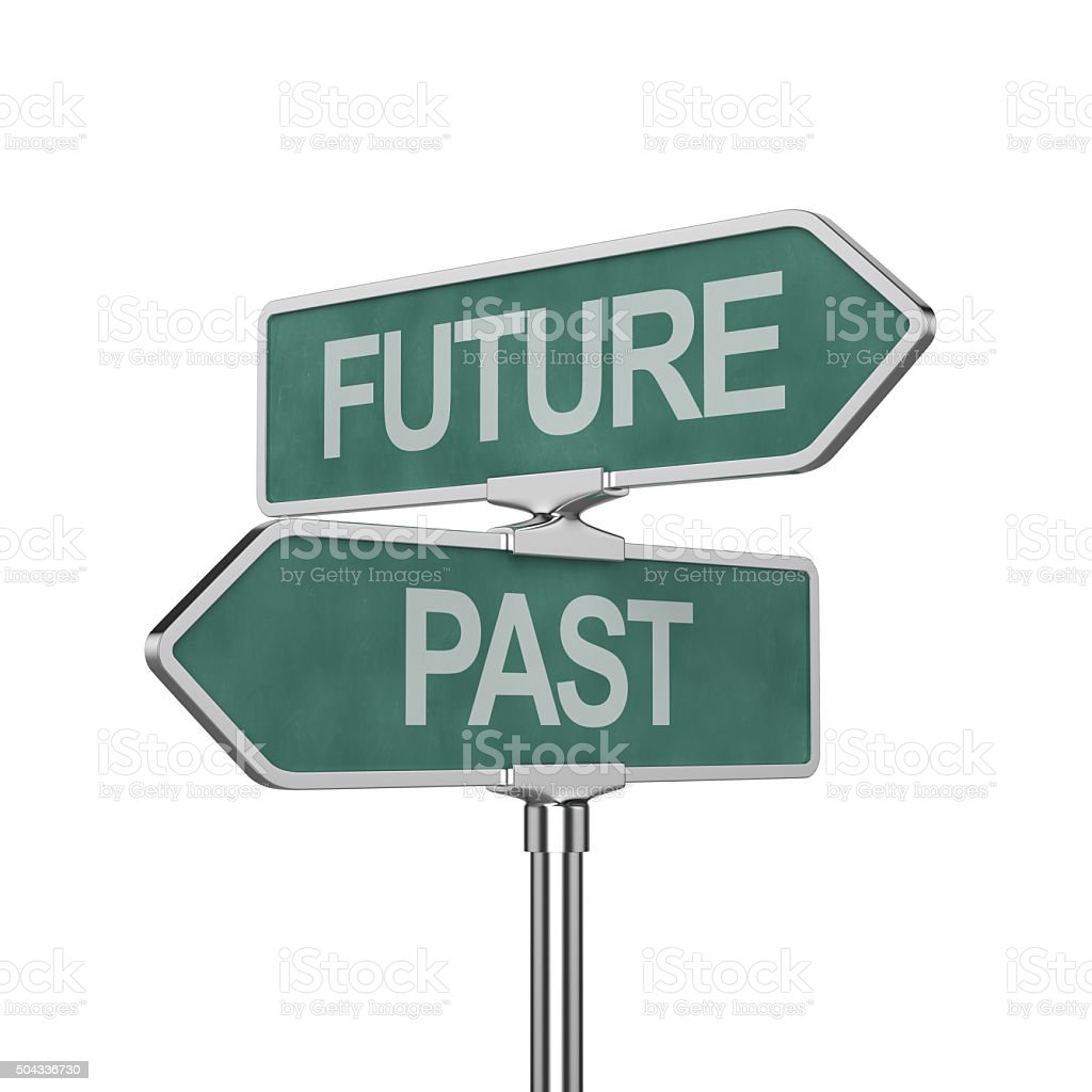 Time concept roadsign board stock photo