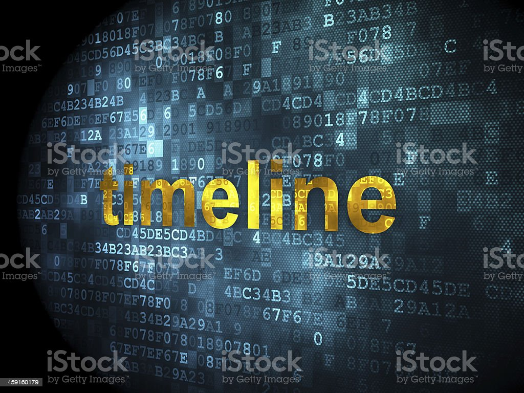 Time concept: Timeline on digital background stock photo