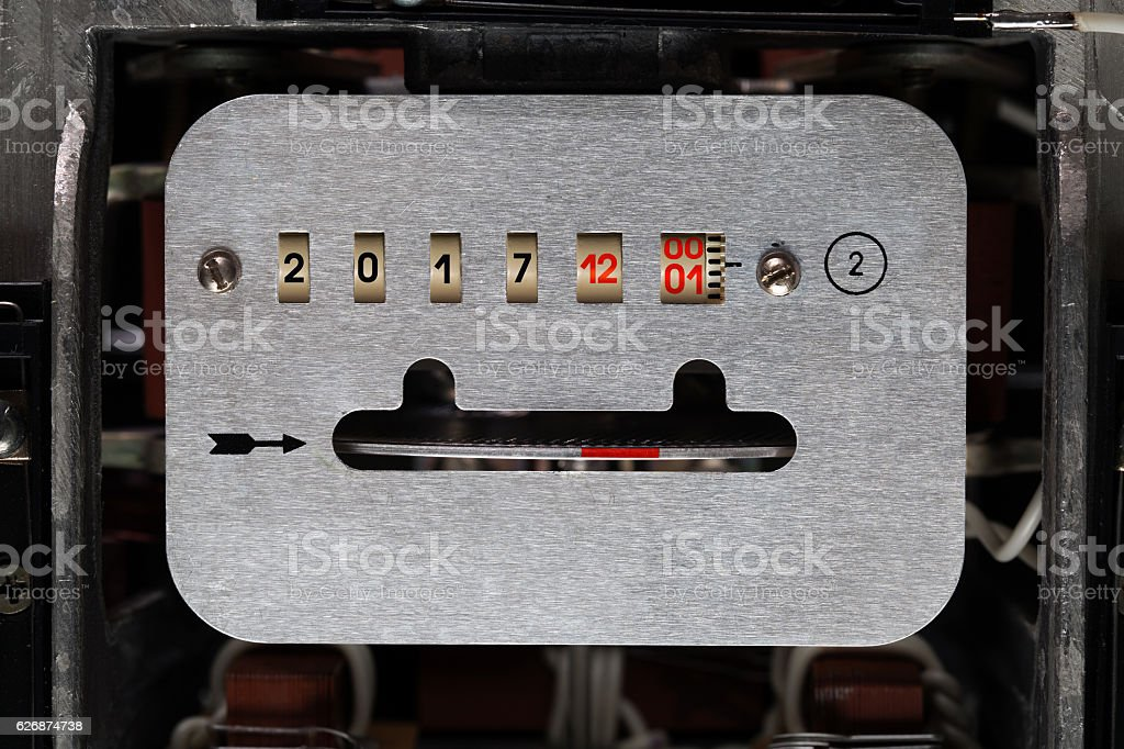 time counter before the New Year stock photo