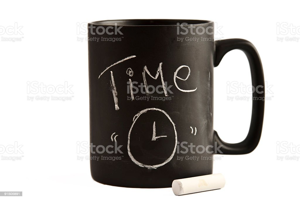 Time cup stock photo
