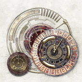 Time Disks, 3D illustration