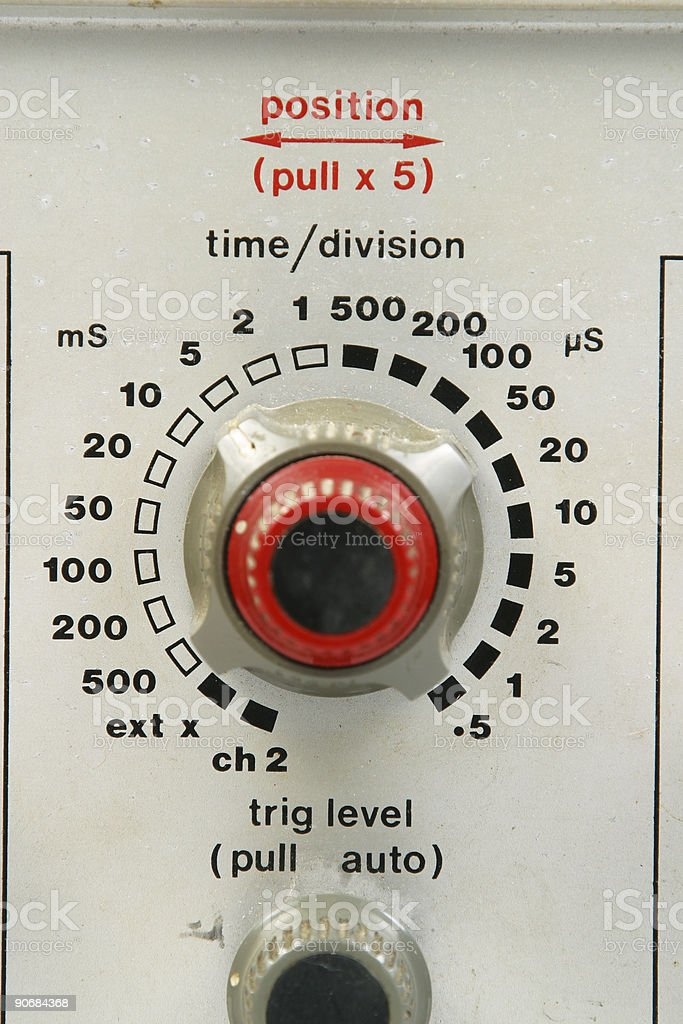 Time - Division Knob 2 royalty-free stock photo
