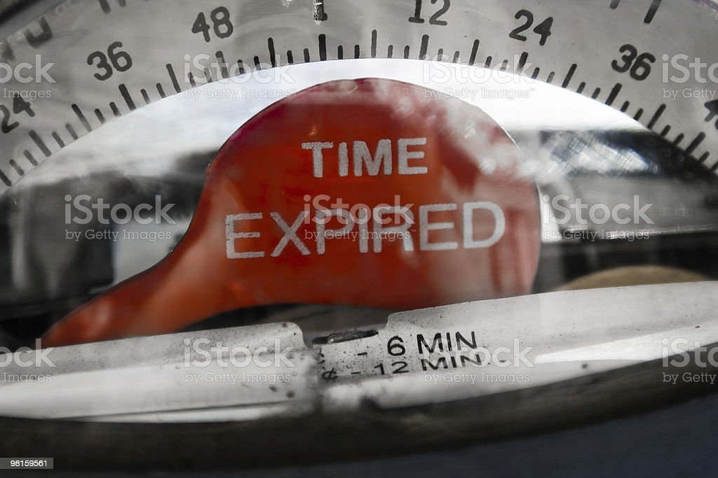 Time Expired royalty-free stock photo
