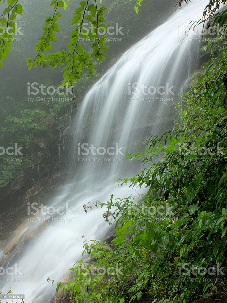 Time exposure of waterfall stock photo