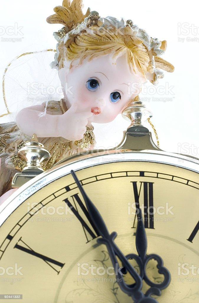 time fairy  (five min. till twelve) royalty-free stock photo