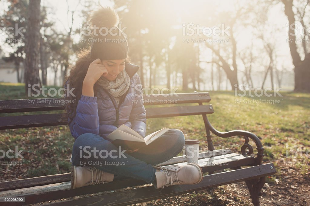 Time Flies With A Good Book stock photo
