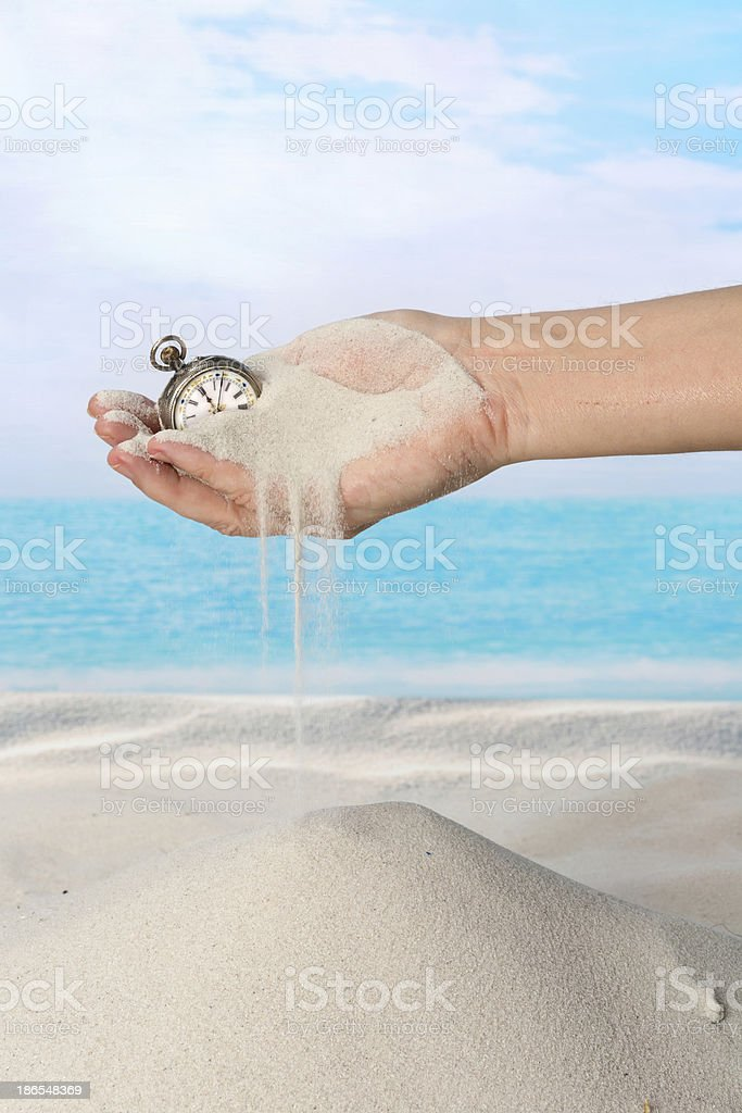 Time flowing like sand royalty-free stock photo