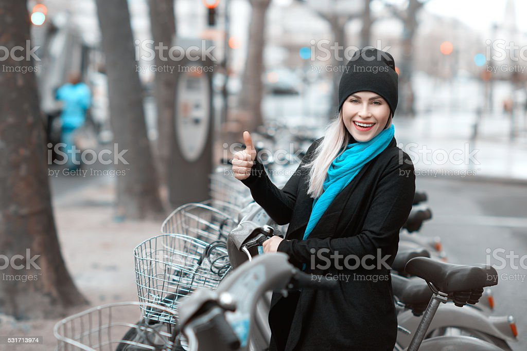 time for a bike ride stock photo