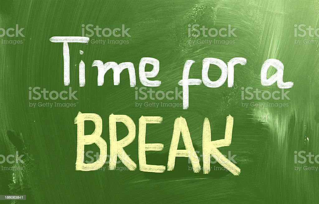 Time For A Break Concept royalty-free stock photo