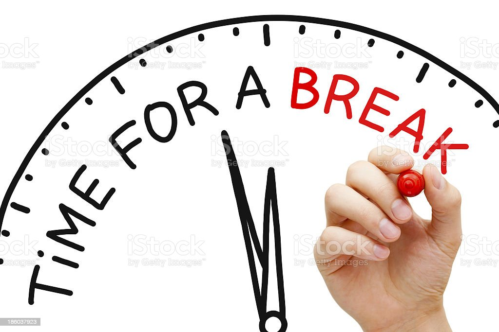 Time for a Break stock photo
