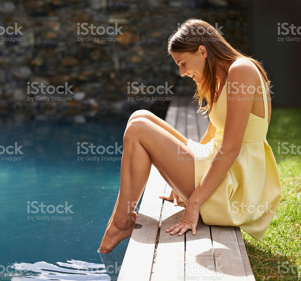 Time for a dip stock photo