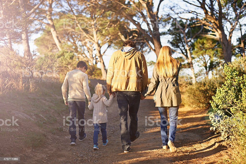 Time for a family adventure! stock photo
