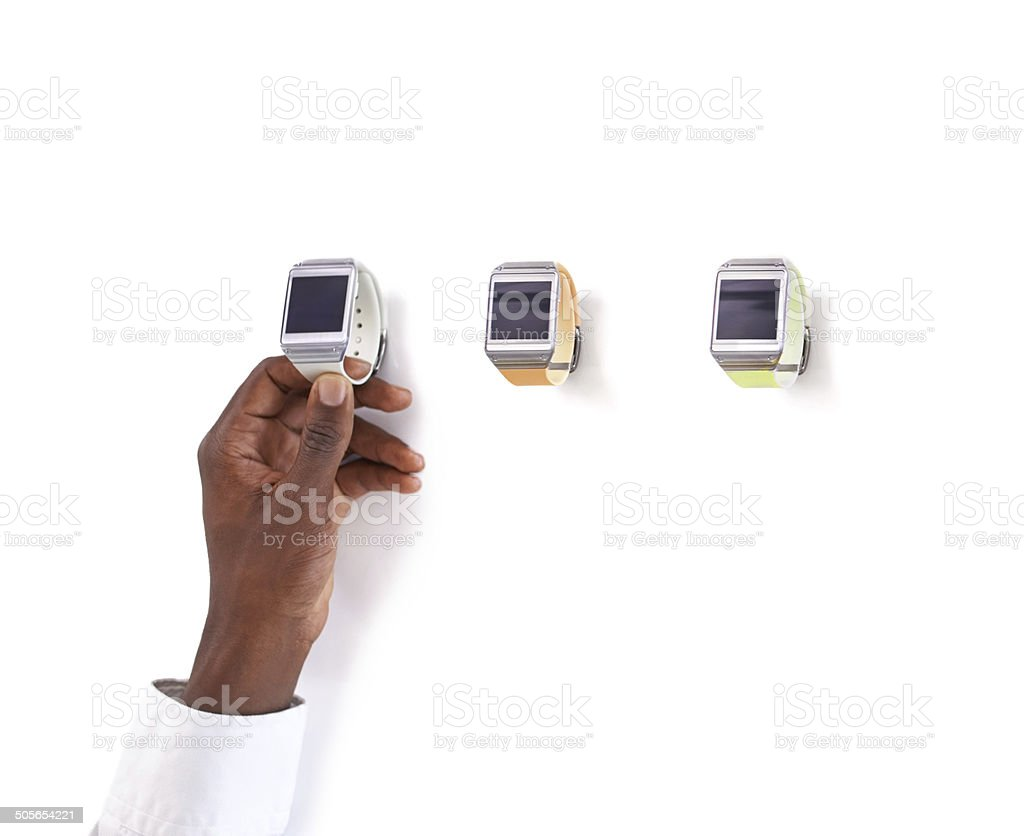 Time for a new watch - Tech style! royalty-free stock photo