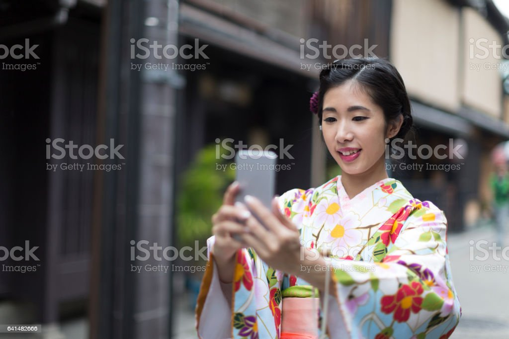 Time for a quick selfie stock photo