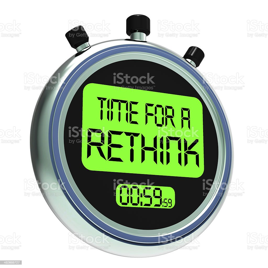 Time For A Rethink Meaning Change Strategy royalty-free stock photo