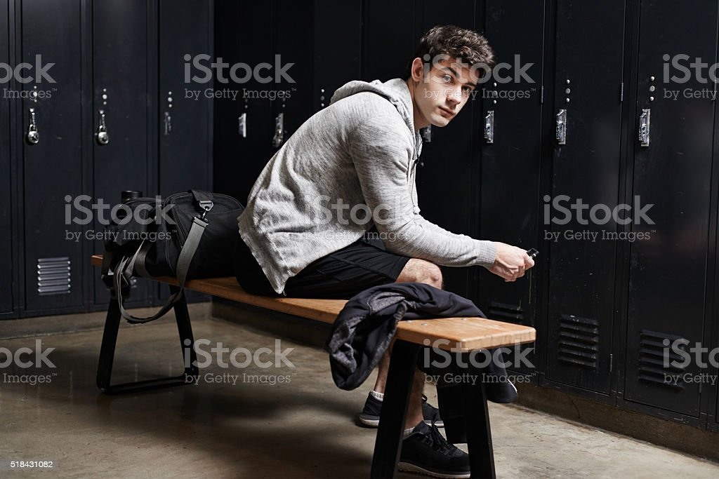 Time for a serious workout session stock photo