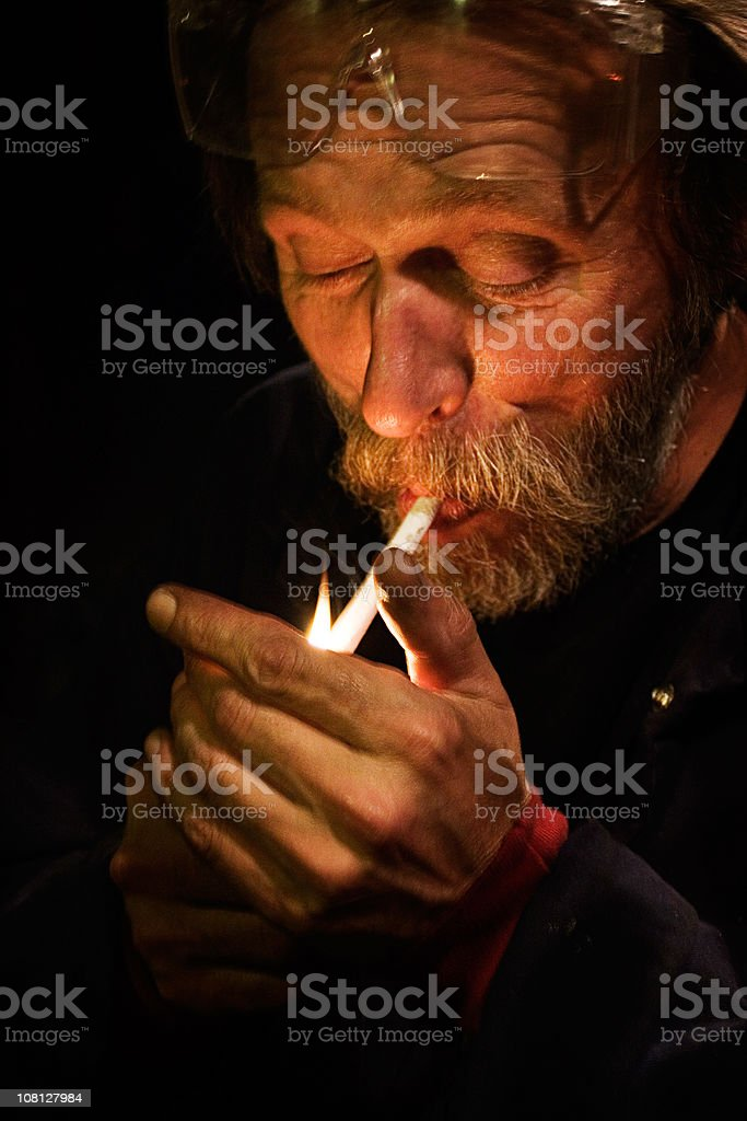 Time for a Smoke royalty-free stock photo