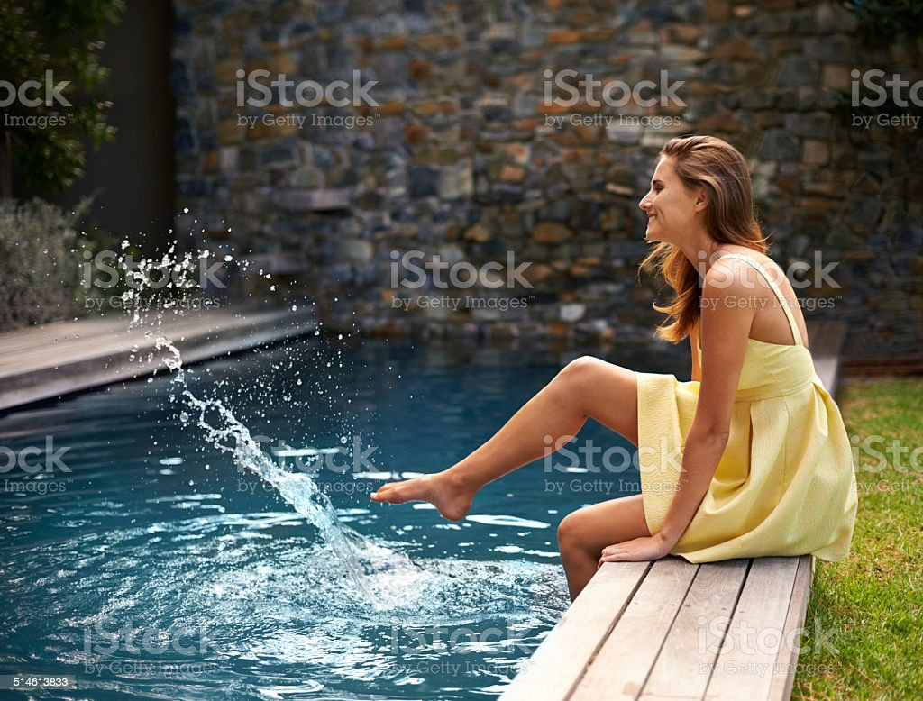Time for a splash stock photo
