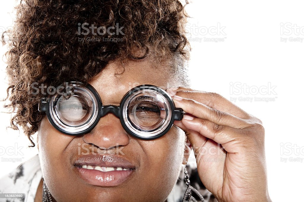 Time for an eye exam stock photo