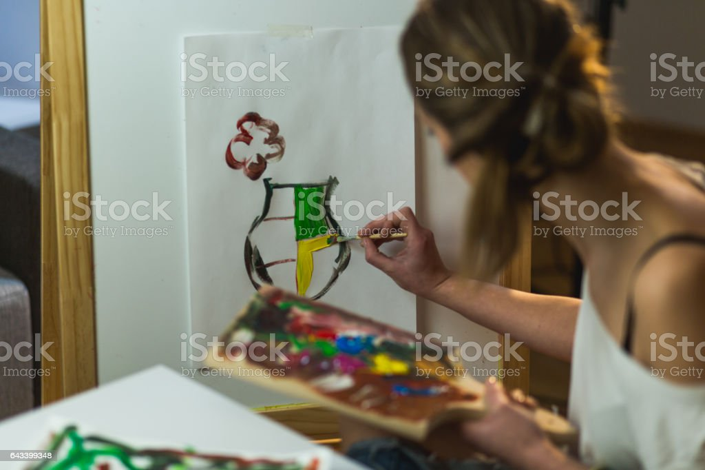 Time for art stock photo