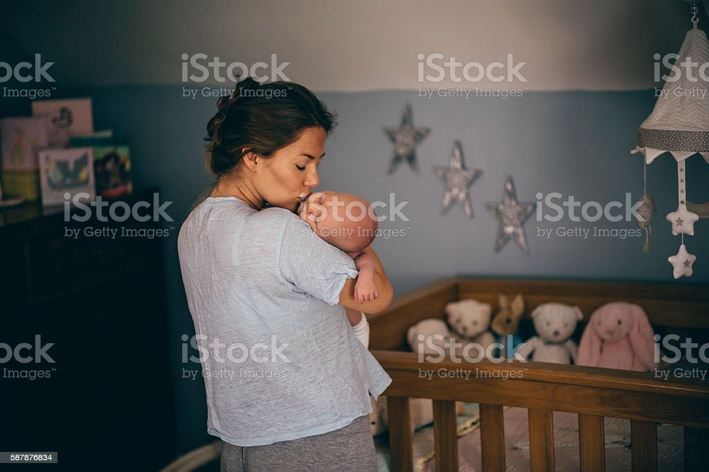 Time for bed stock photo