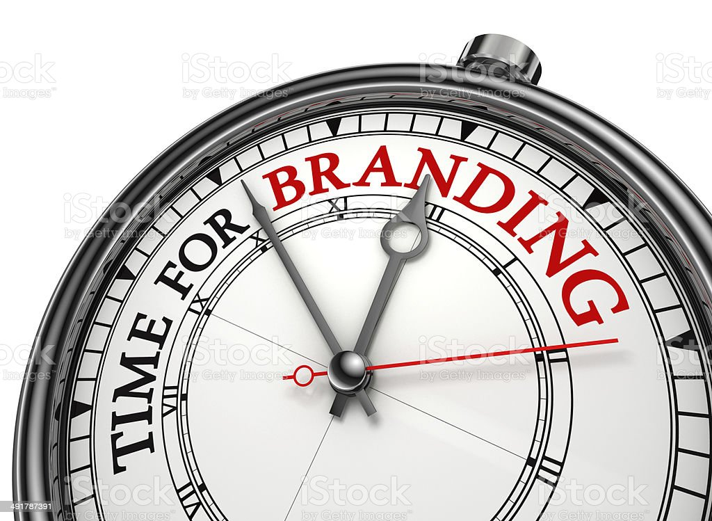 time for branding concept clock royalty-free stock photo