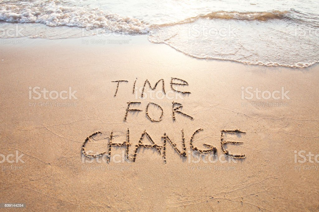 time for change, concept of new life stock photo