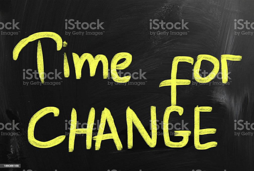 Time for Change concept royalty-free stock photo