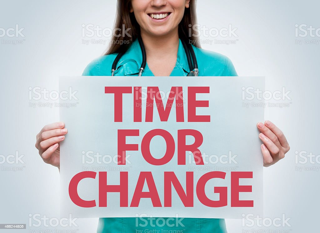 Time for change / Health concept (Click for more) stock photo