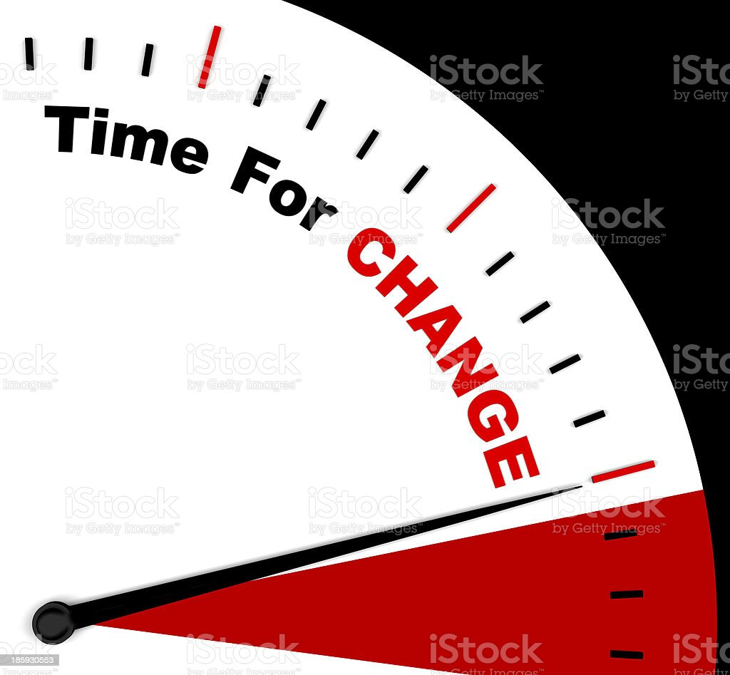 Time For Change Representing Different Strategy Or Varying royalty-free stock photo