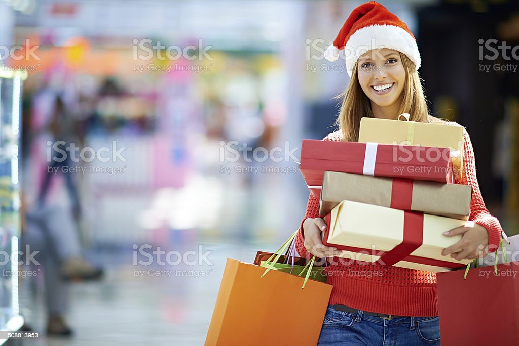 Time for Christmas shopping stock photo