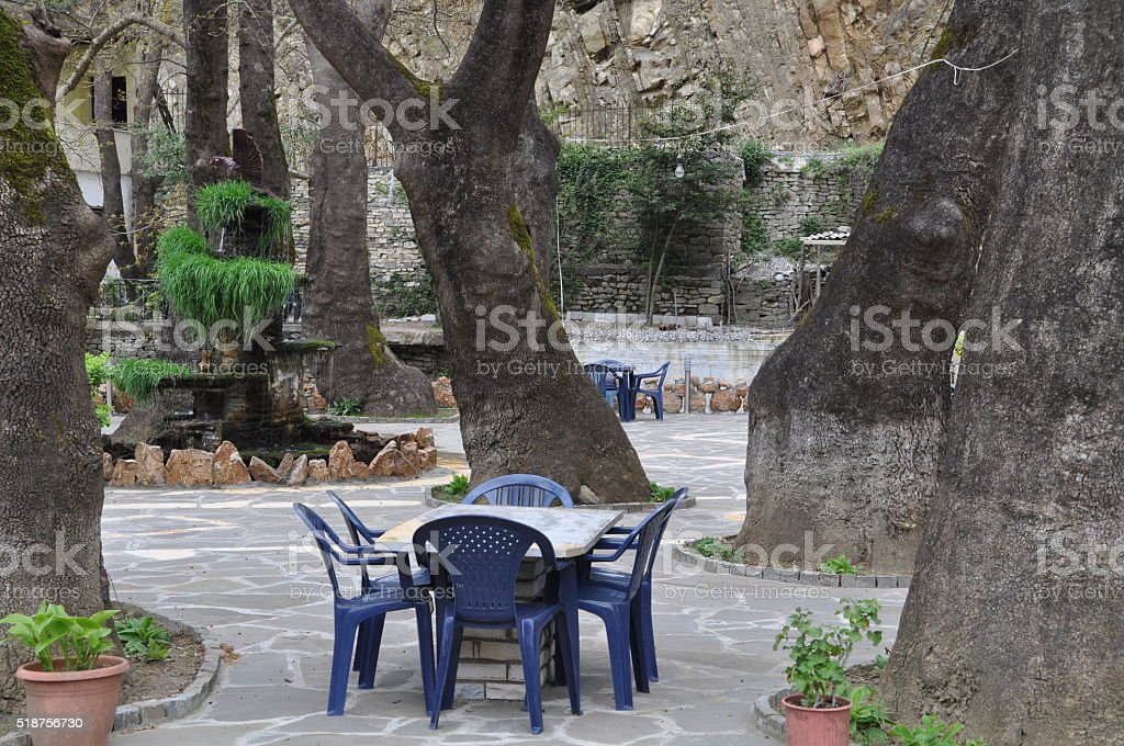 Time for coffee in Albania stock photo