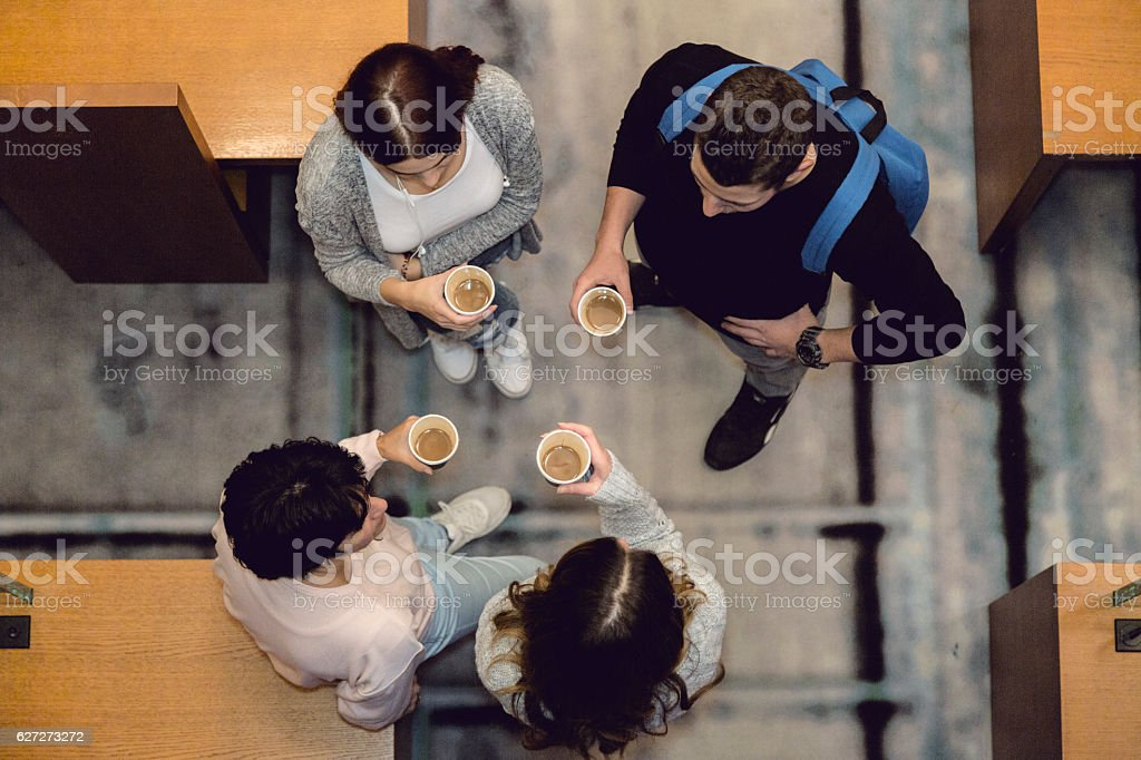 Time for coffee . stock photo