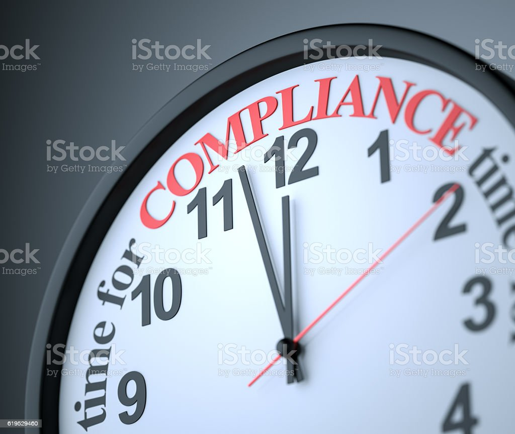 Time for Compliance stock photo