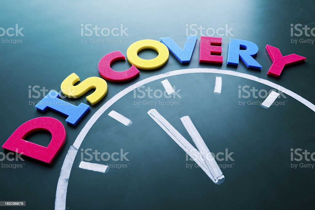 Time for discovery concept royalty-free stock photo