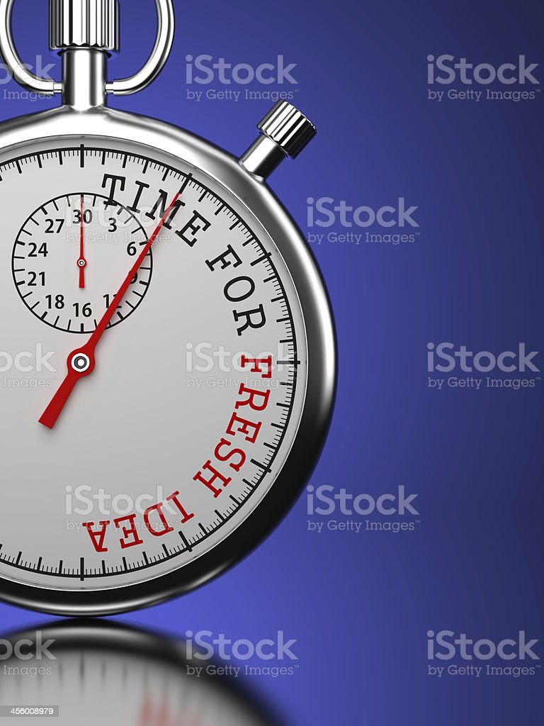 Time For Fresh Idea Concept. royalty-free stock photo