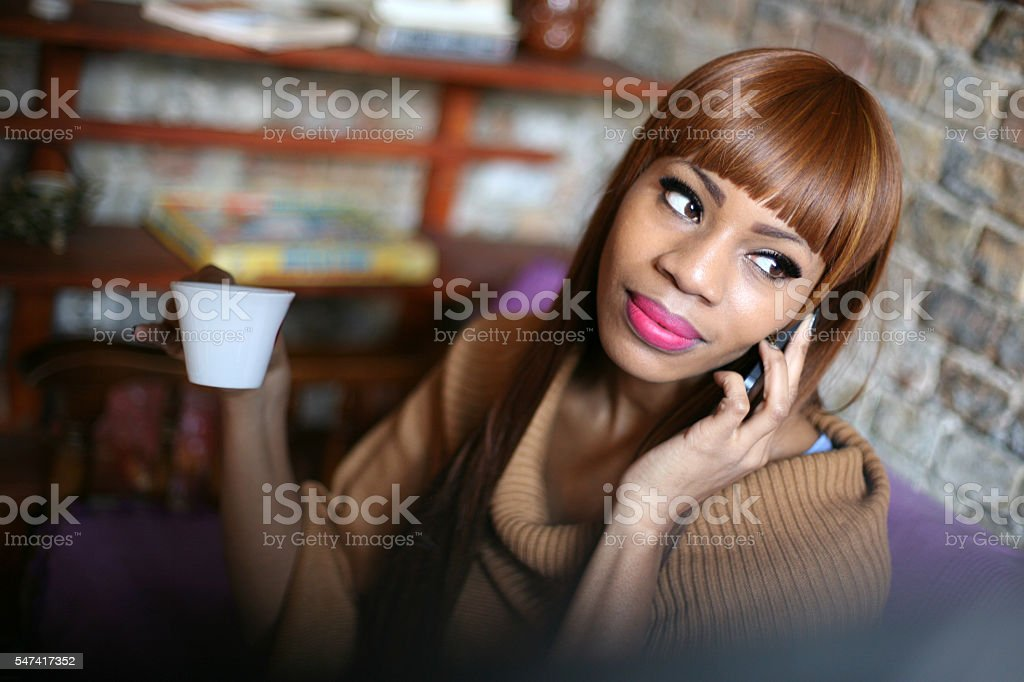 Time for gossip. stock photo