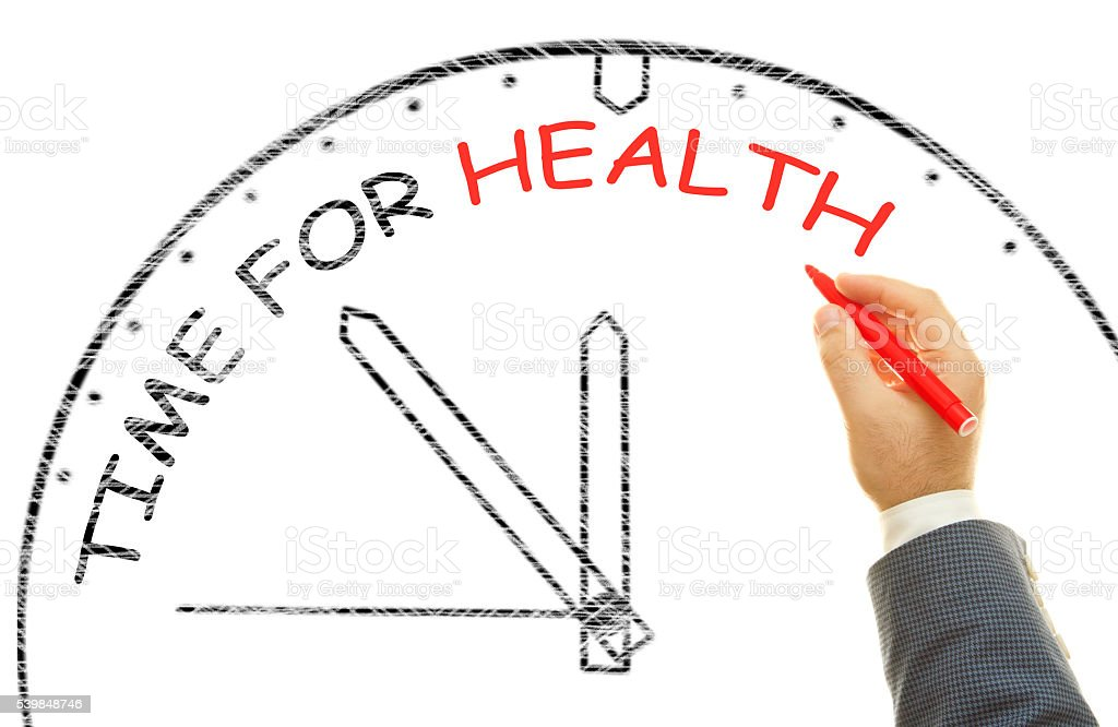 Time for health stock photo