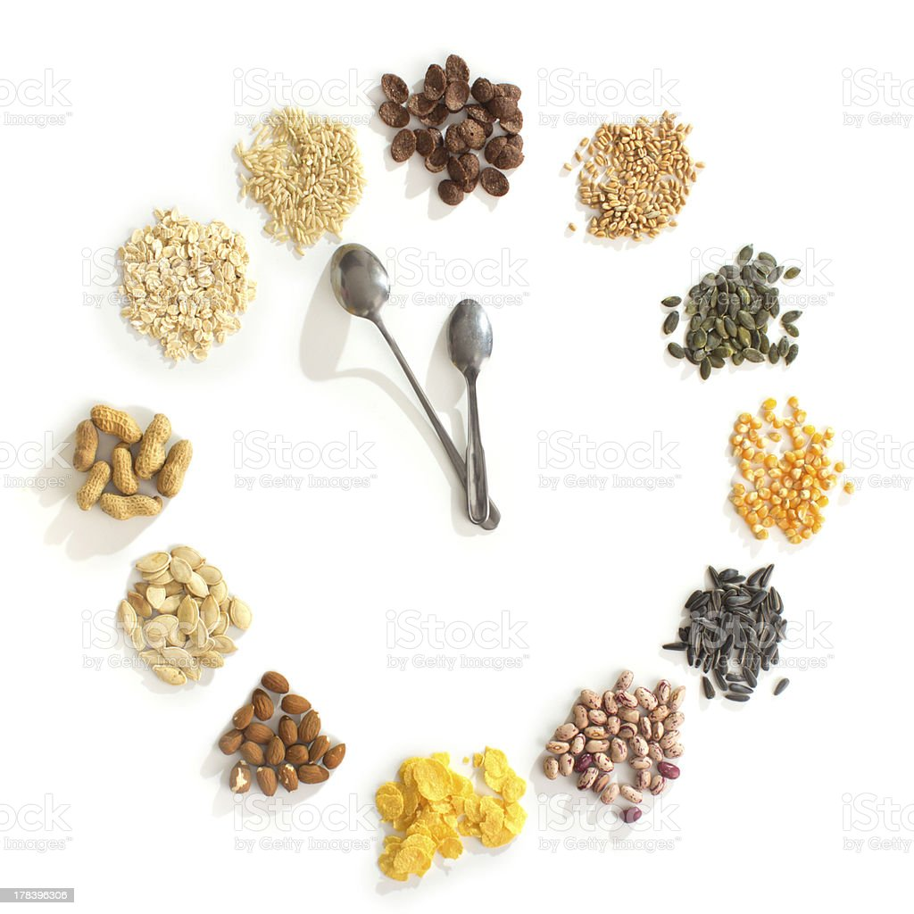 Time for healthy food stock photo