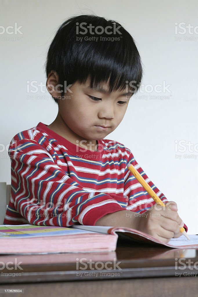 Time for Homework royalty-free stock photo