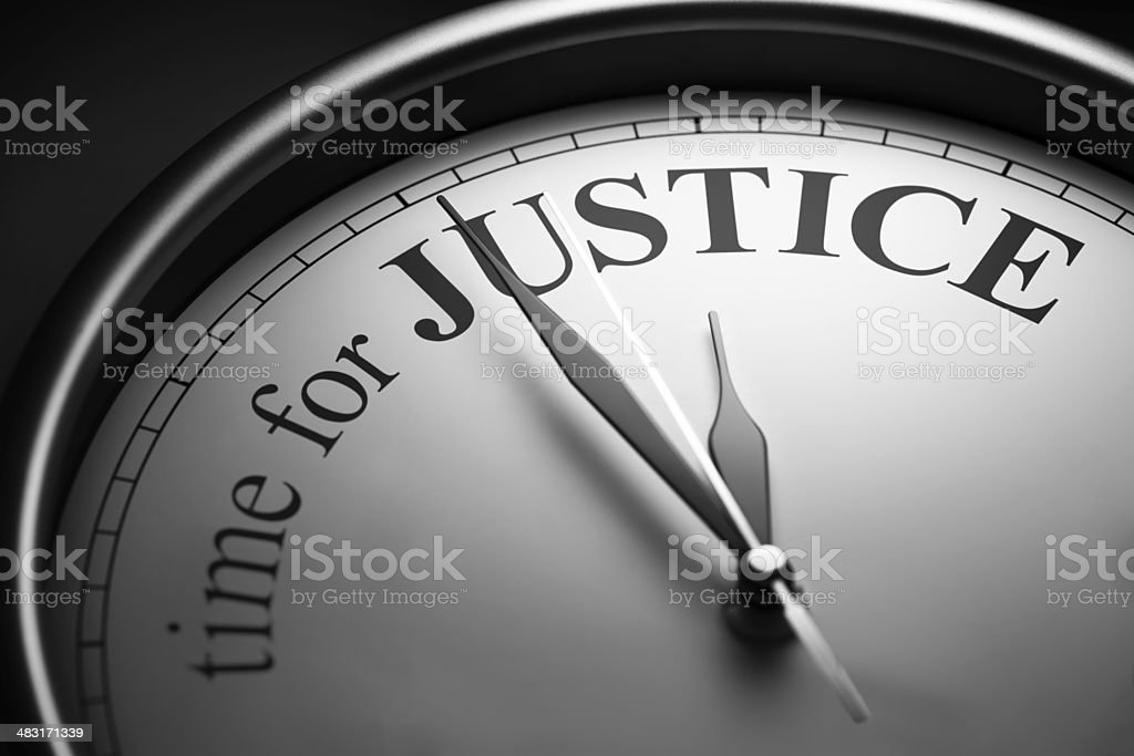 Time For Justice royalty-free stock photo