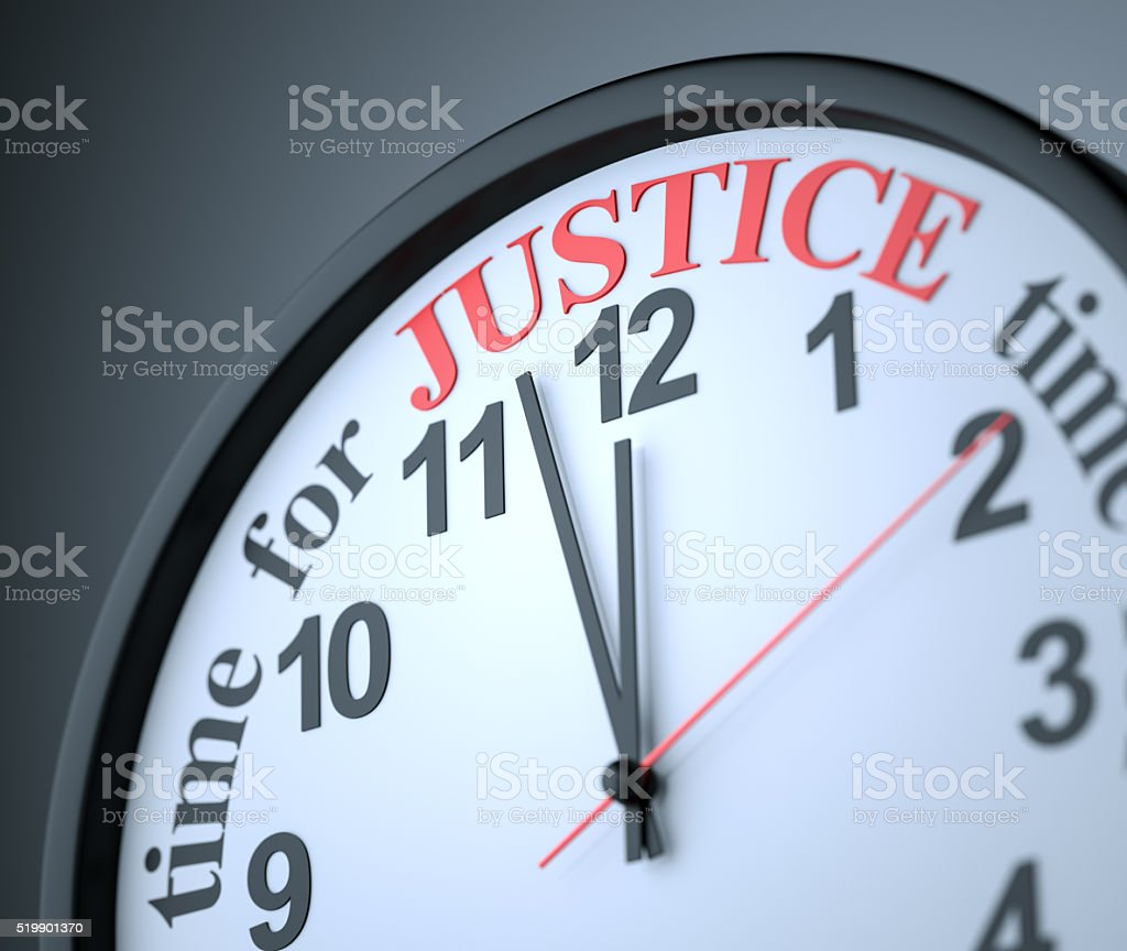 Time for Justice stock photo